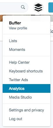 select twitter analytics